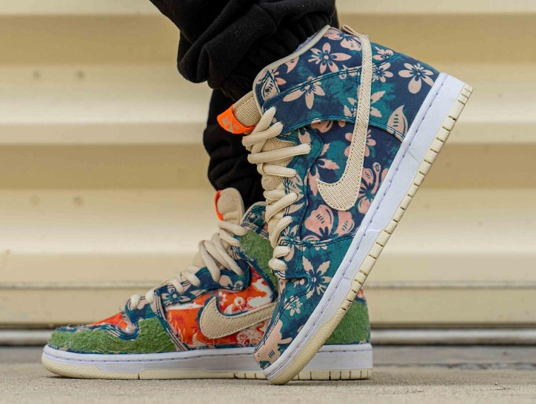 Nike SB Dunk High 'Maui Wowie' Sail/Blue/Green Aqua CZ2232-300 (Lateral)