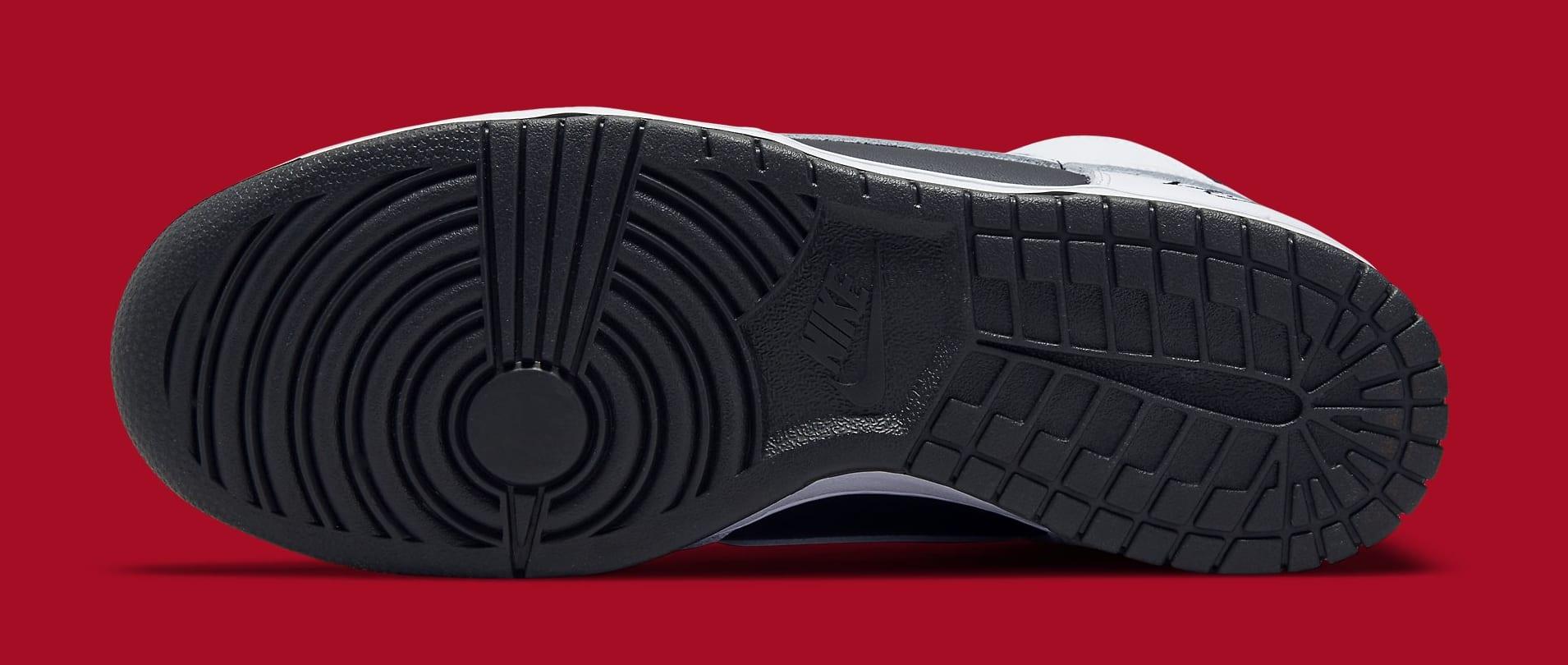 Supreme x Nike SB Dunk High White/Black DN3741-002 Outsole