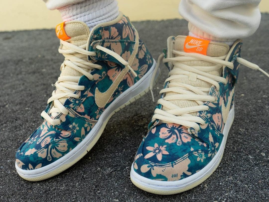 Nike SB Dunk High 'Hawaii' Sail/Blue/Green Aqua CZ2232-300 (Front 2)