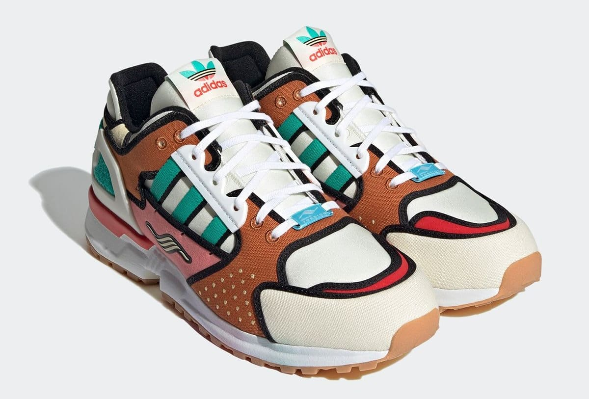 The Simpsons x Adidas ZX 10000 'Krusty Burger' H05783 Pair