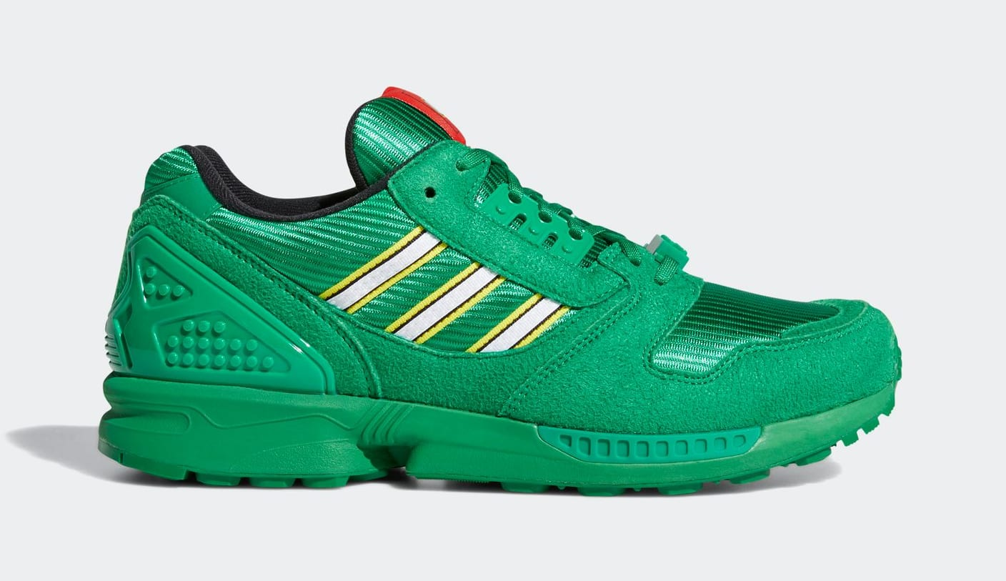Lego x Adidas ZX 8000 Green Lateral