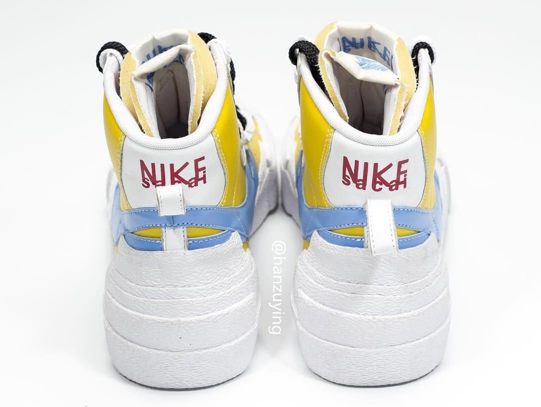 sacai x Nike Blazer High Yellow Heel