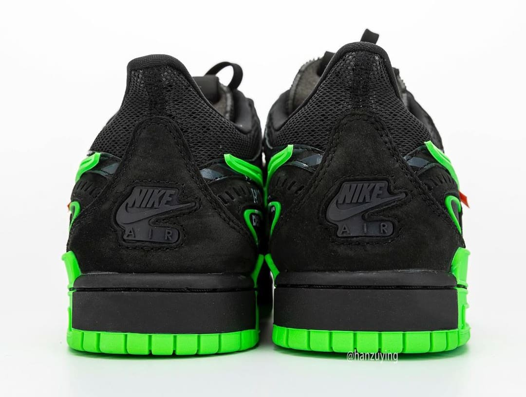 Off-White x Nike Air Rubber Dunk 'Green Strike' CU6015-001 Heel