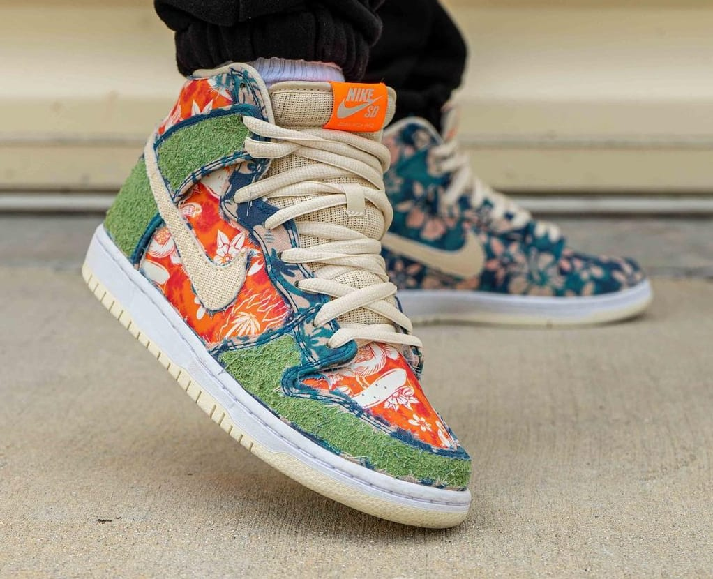 Nike SB Dunk High 'Maui Wowie' Sail/Blue/Green Aqua CZ2232-300 (Toe)