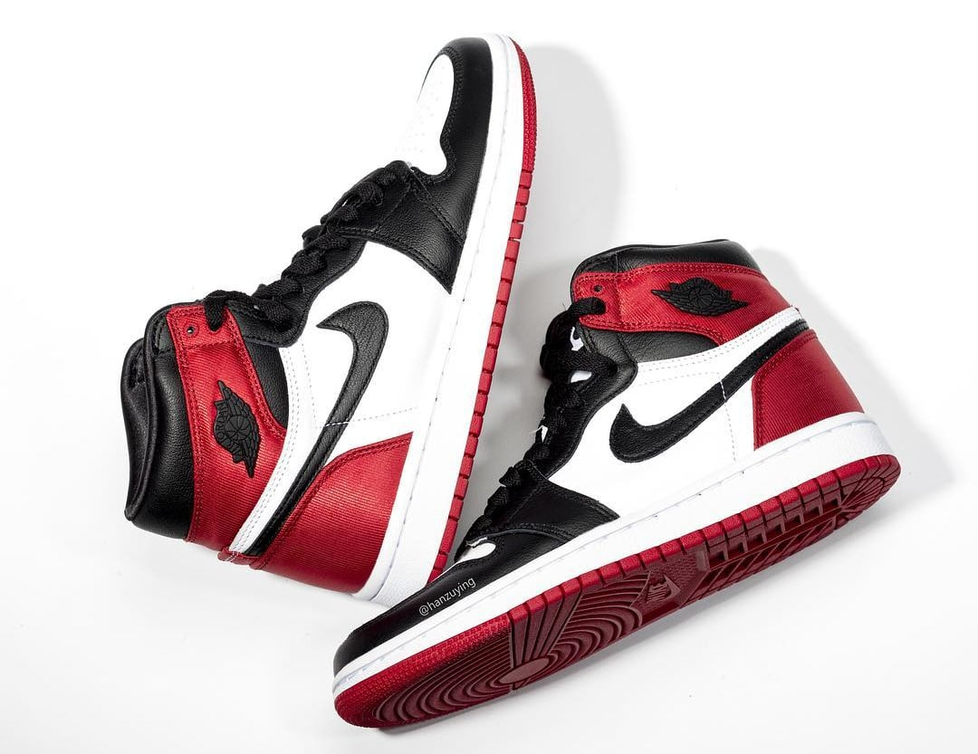 pretty nice 71cd7 9060d Image via hanzuying · Air Jordan 1 Satin Women s  Black Toe