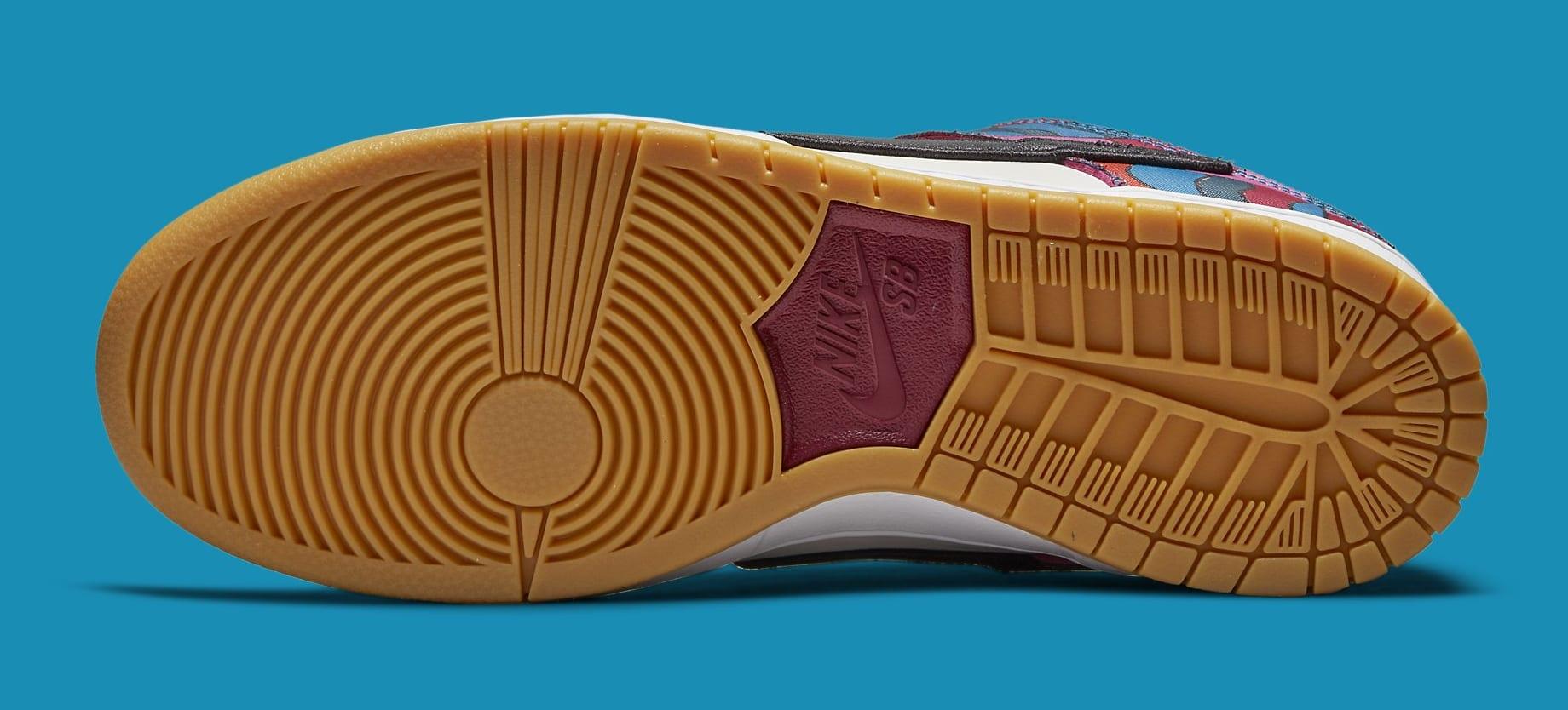Parra x Nike SB Dunk Low DH7695-600 Outsole