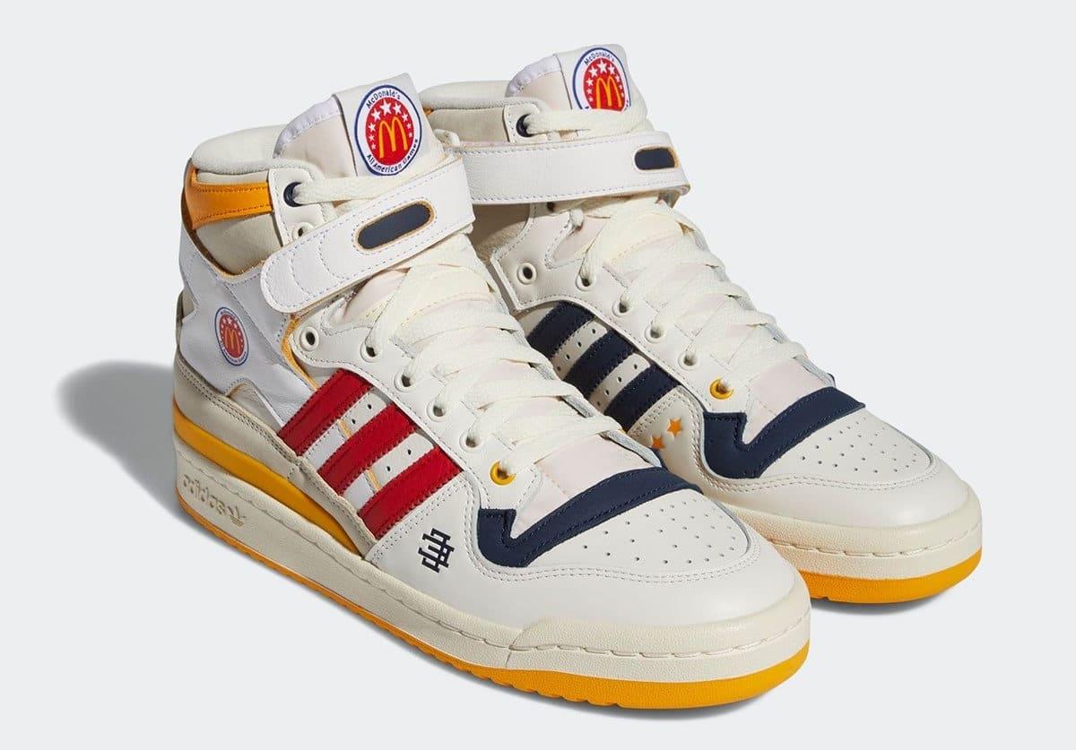 Eric Emanuel x Adidas Forum Hi 'McDonald's All-American' H02575 Pair
