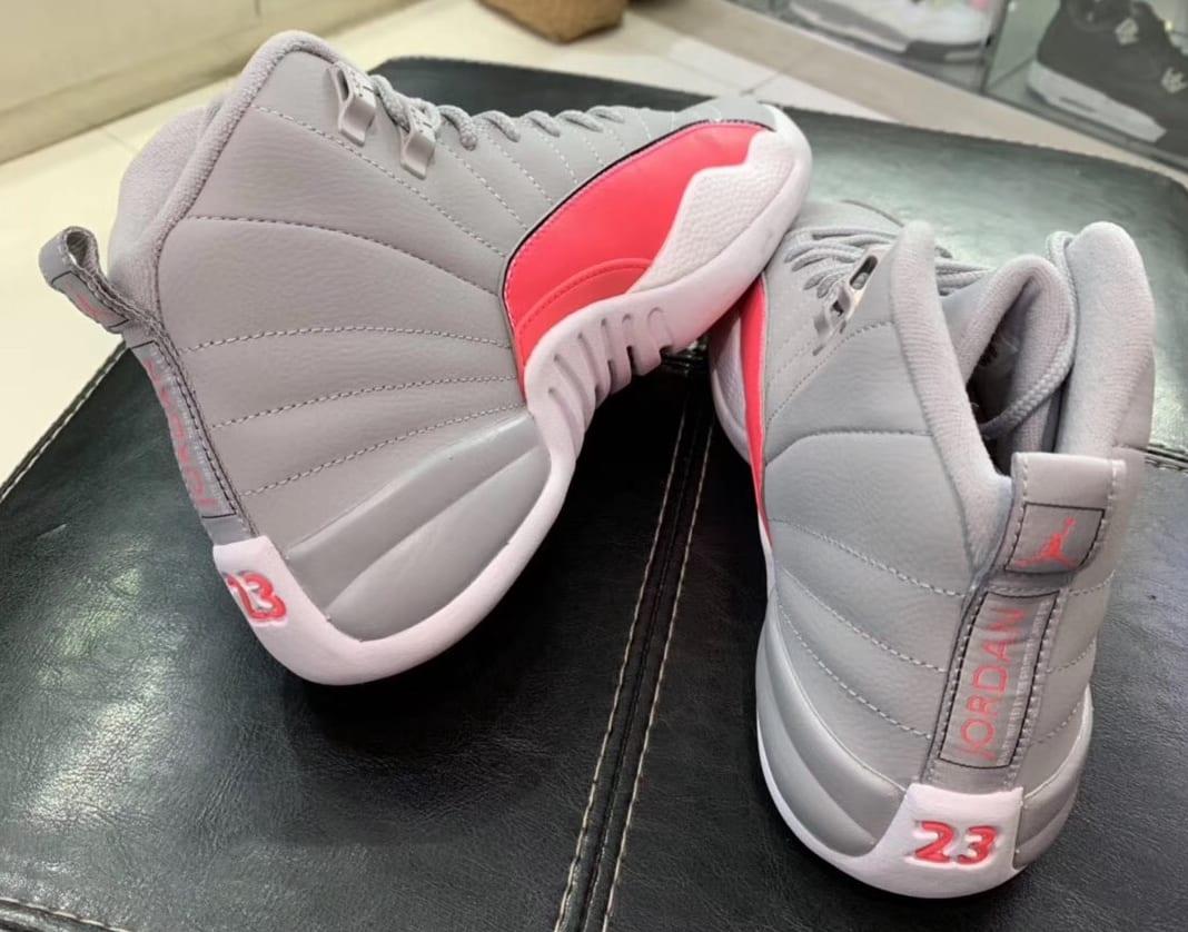 Air Jordan 12 GS Grey/Pink 510815-060 Heel
