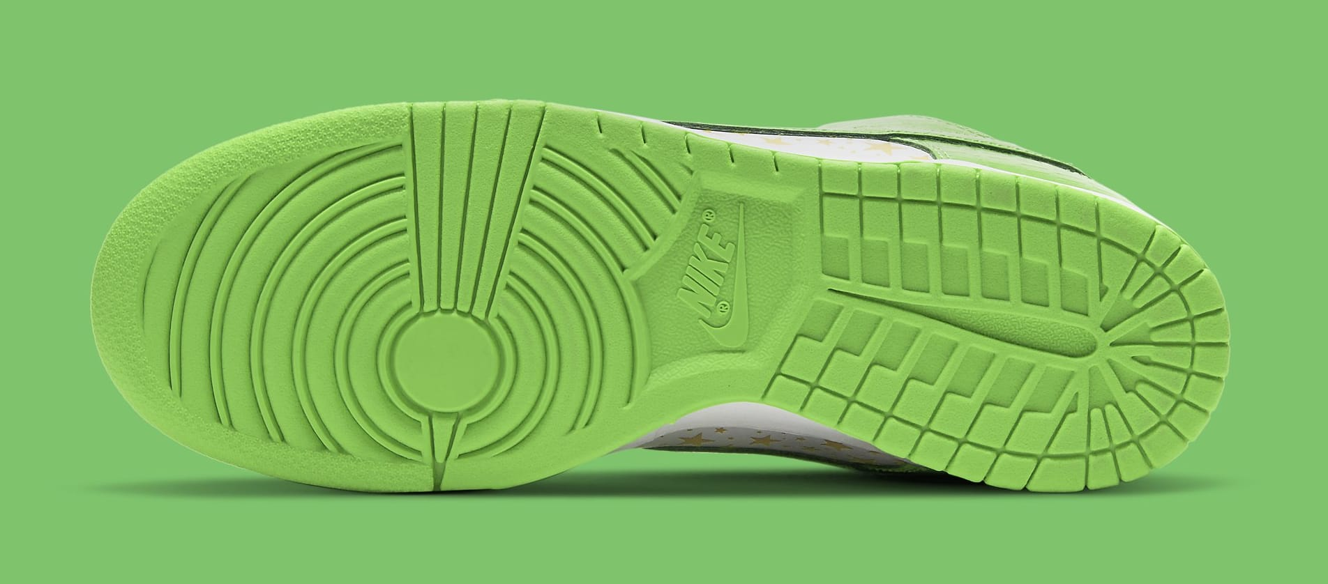 Supreme x Nike SB Dunk Low 'Green' DH3228-101 Outsole