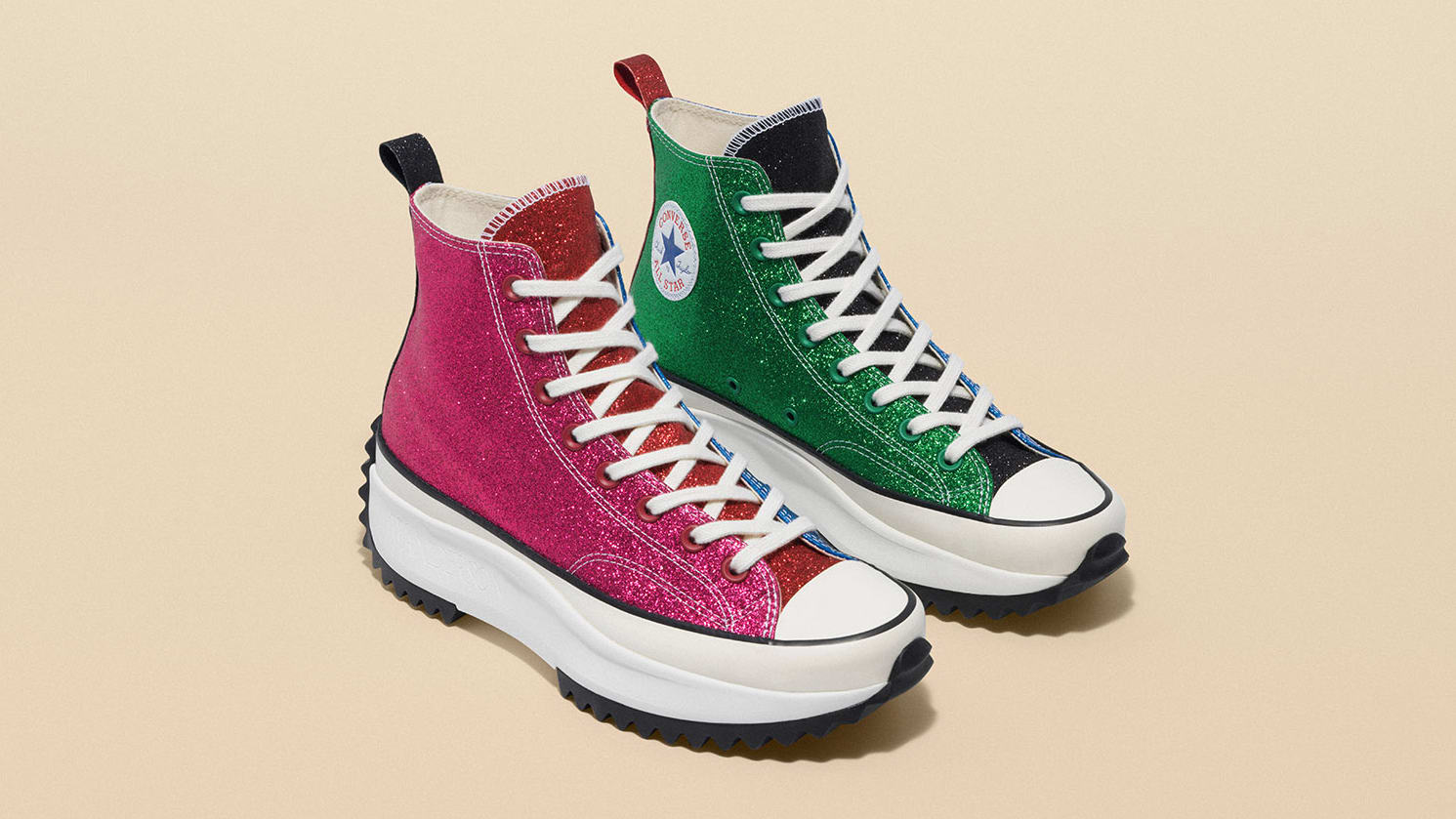 JW Anderson x Converse Run Star Hike 'Glitter' Collection 2