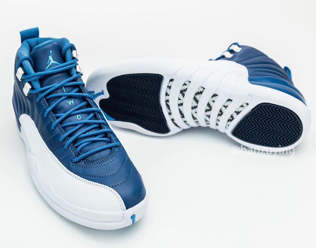 Air Jordan 12 Retro 'Stone Blue' 130690-404 Side