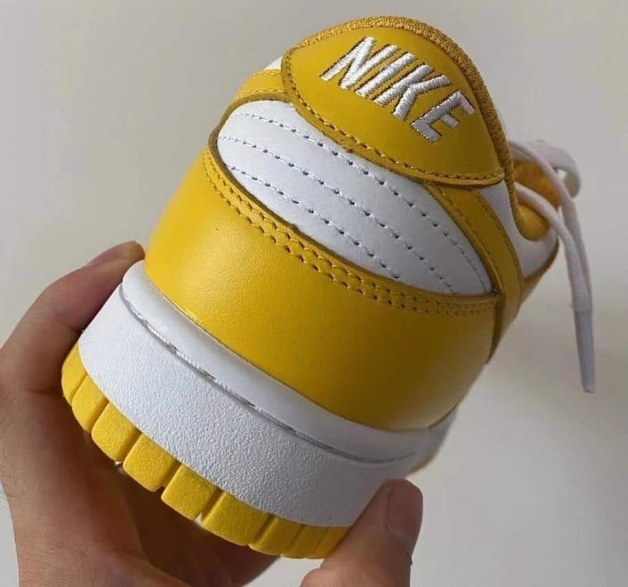 Nike Dunk Low 'White/Yellow' Heel