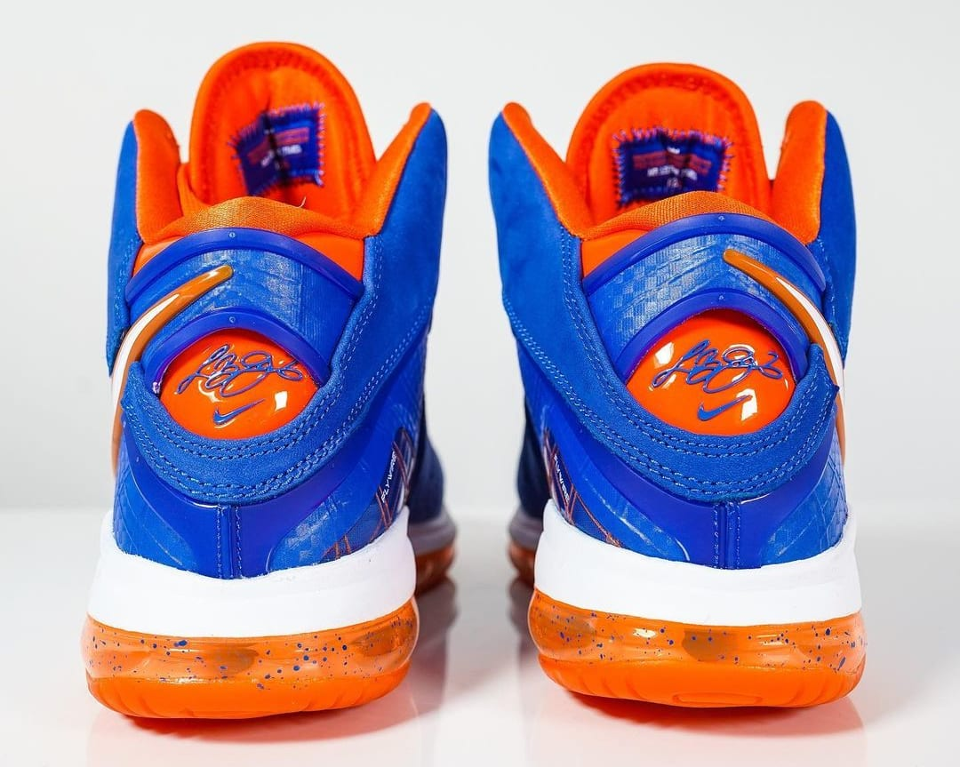 Nike LeBron 8 HWC Knicks Cavs 2021 Release Date CV1750-400 Heel