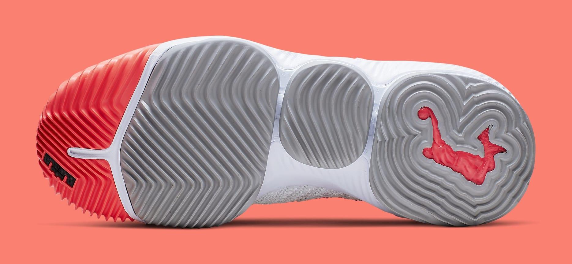 Nike LeBron 16 'Hot Lava' White CI1521-100 Sole