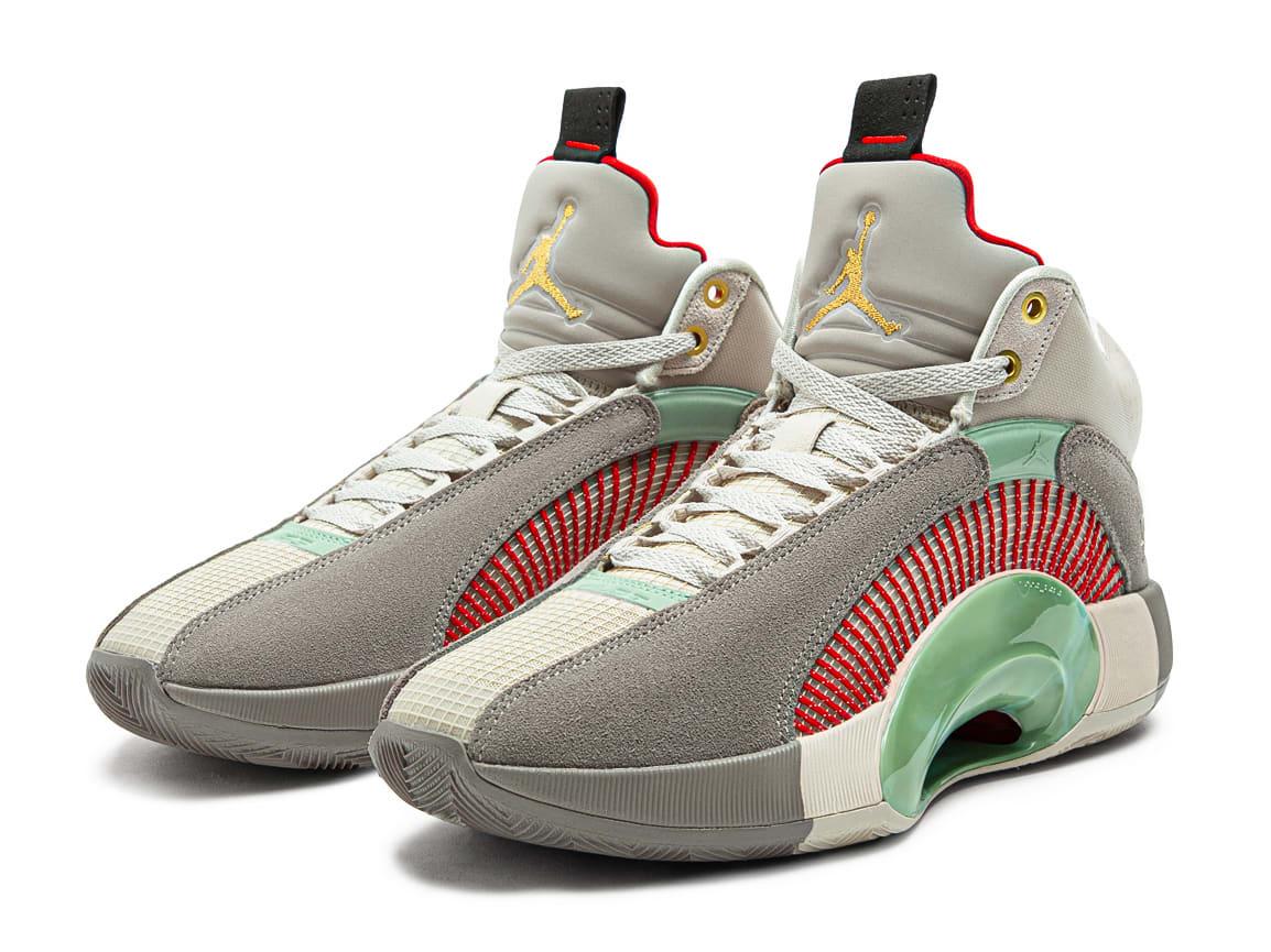 CLOT x Air Jordan 35 XXXV Release Date DD9322-200 Pair