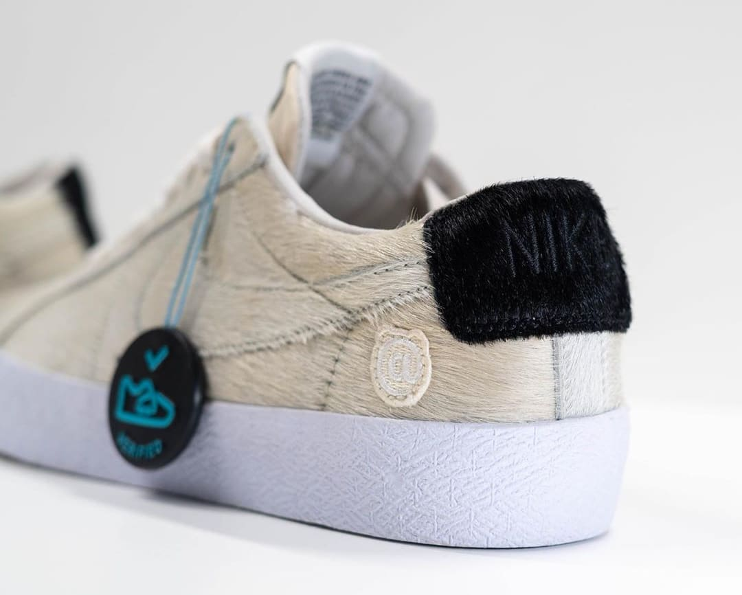 Medicom x Nike SB Blazer Low 'Be@rbrick' Sample CZ4620-200 Heel