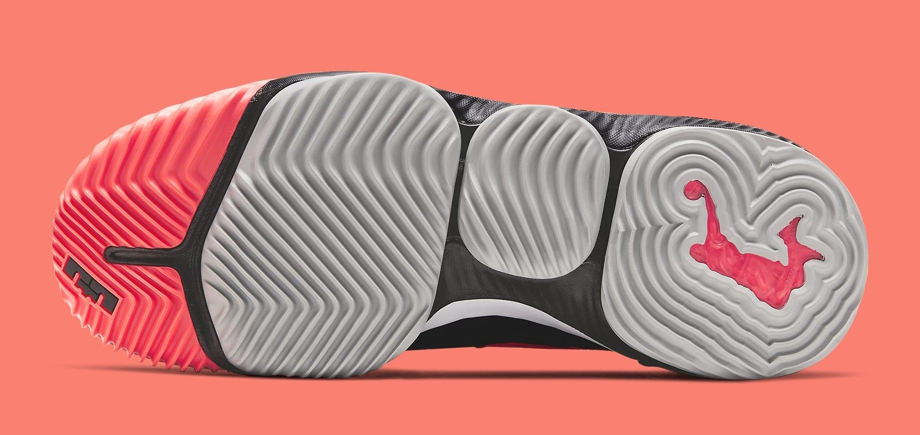 Nike LeBron 16 'Hot Lava' Black CI1521-001 Sole