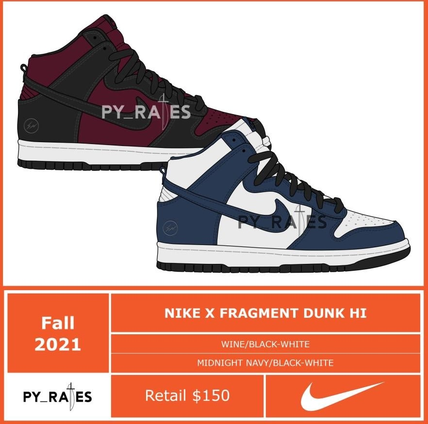 Fragment x Nike Dunk High Collab Release Date Leaks