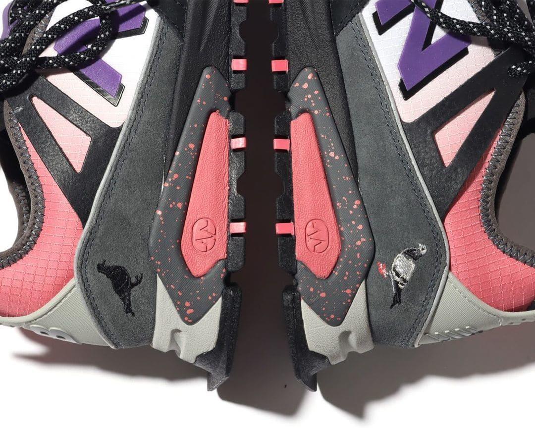 Atmos x Staple Pigeon x New Balance X-Racer Heel Teaser