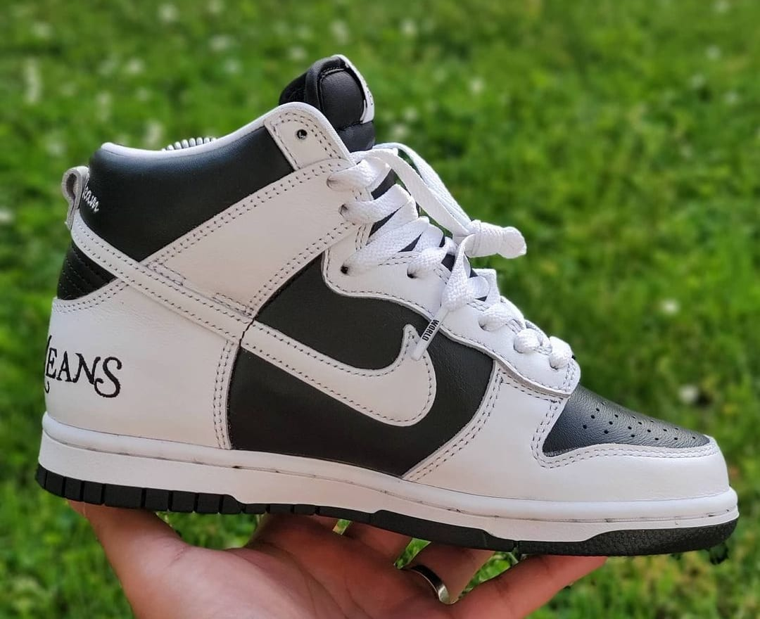 Supreme x Nike SB Dunk High 'By Any Means' (Medial)