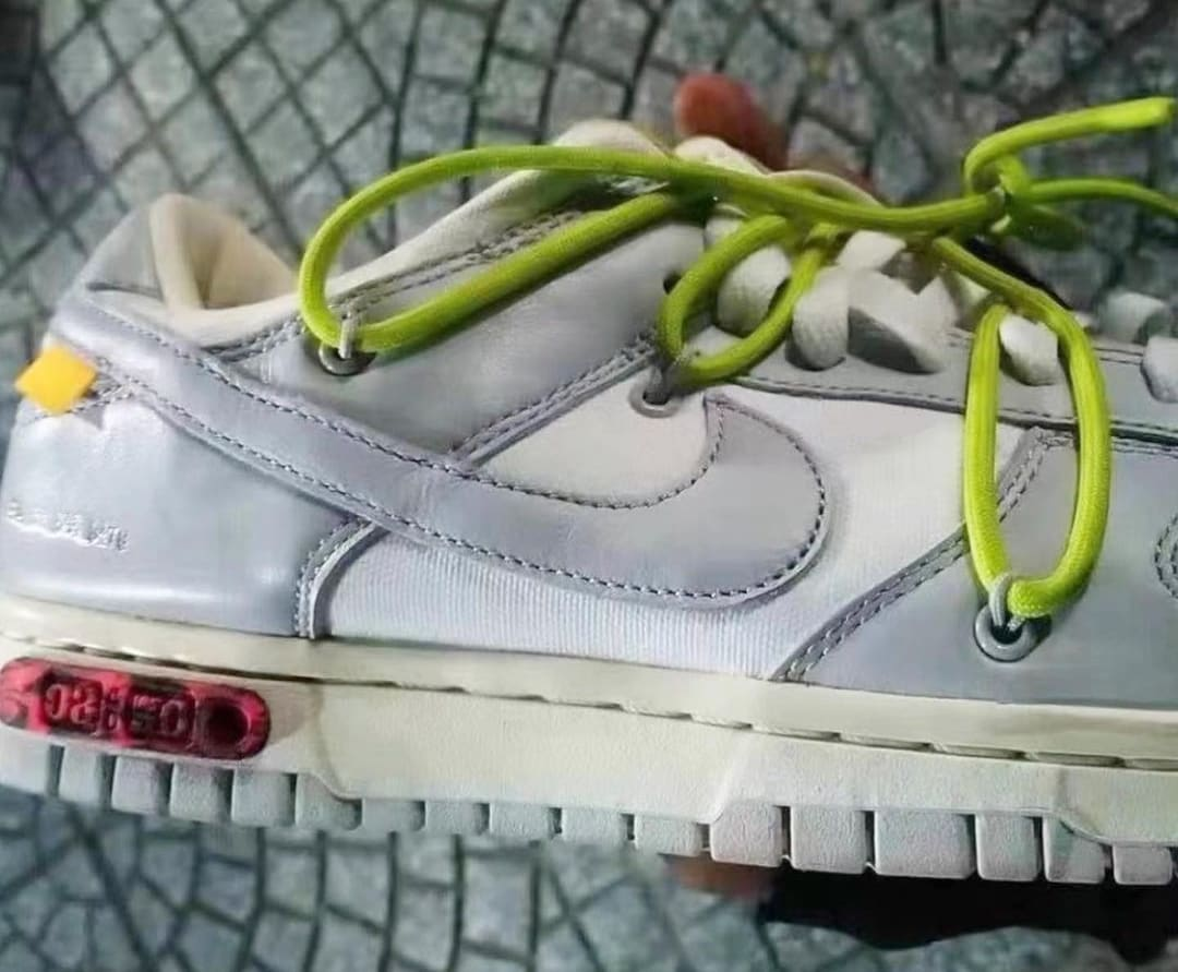 Off-White x Nike Dunk 'The 50' Sail/Grey/Green