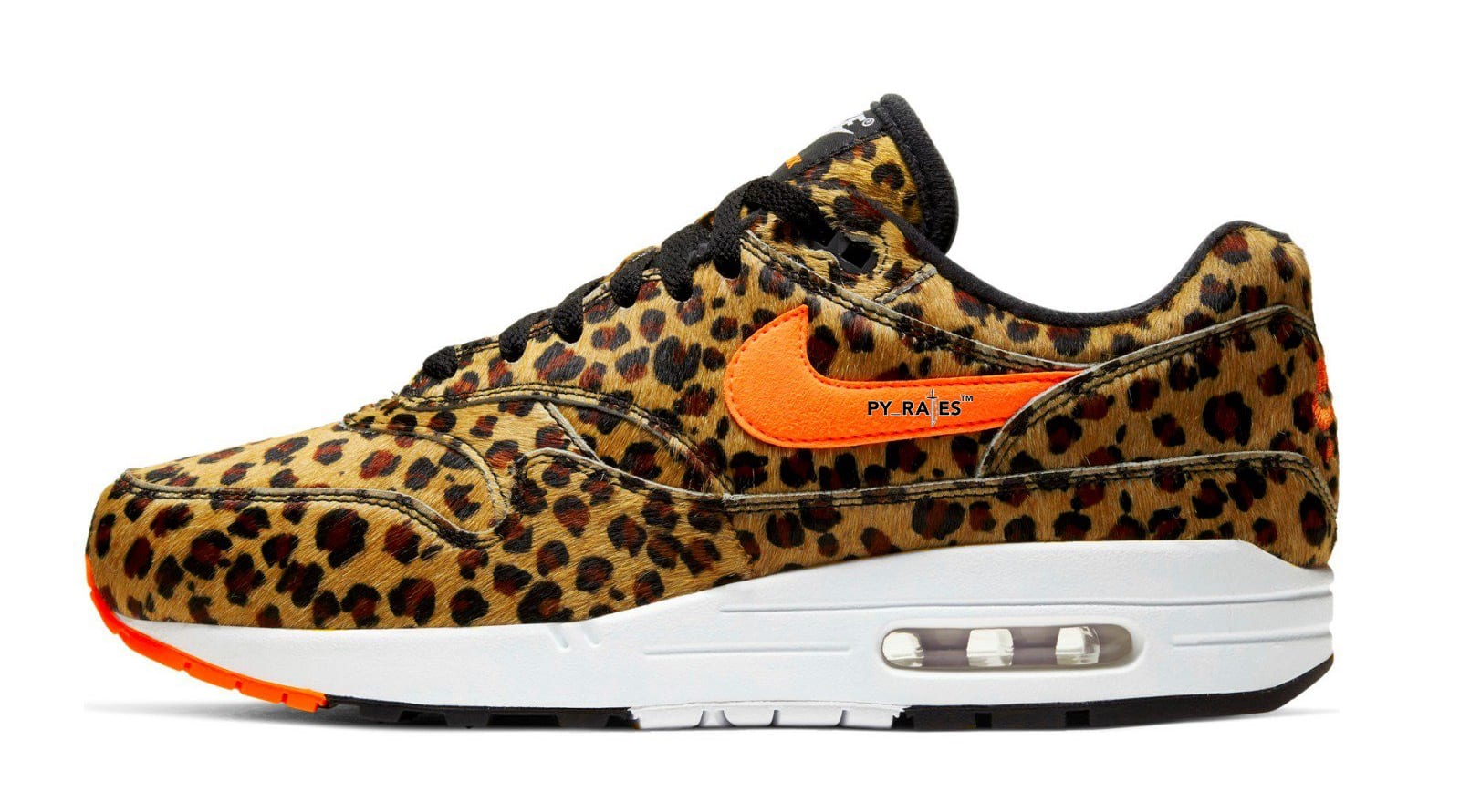 Atmos x Nike Air Max 1 'Multi-Color/Total Orange/White/Black' AQ0928-901 (Lateral)