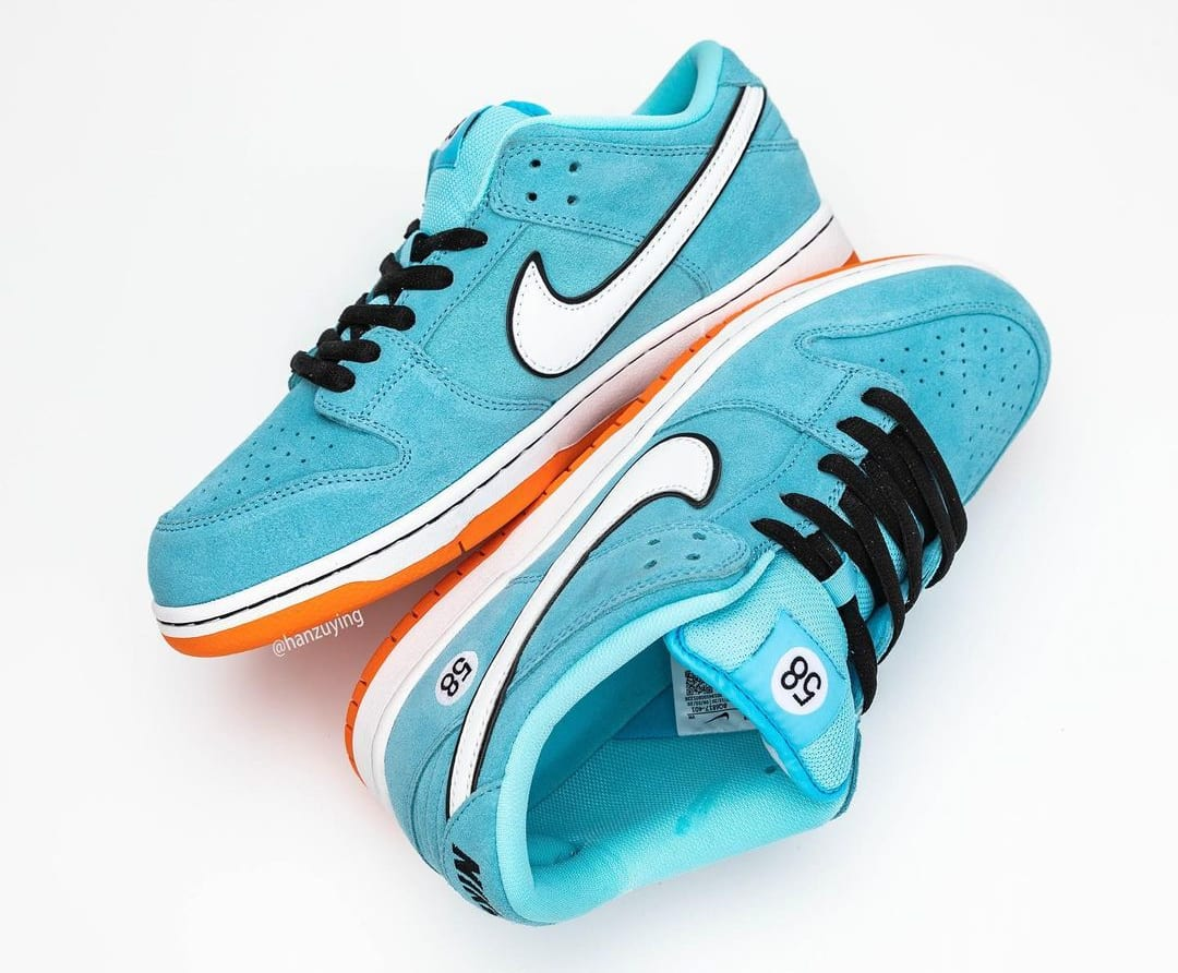 Nike SB Dunk Low 'Gulf' BQ6817-401 Top