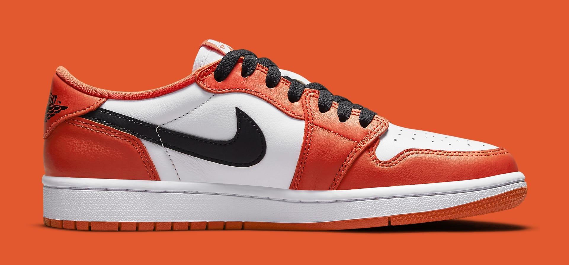 Air Jordan 1 Low OG 'Orange/White/Black' CZ0775-801 Medial