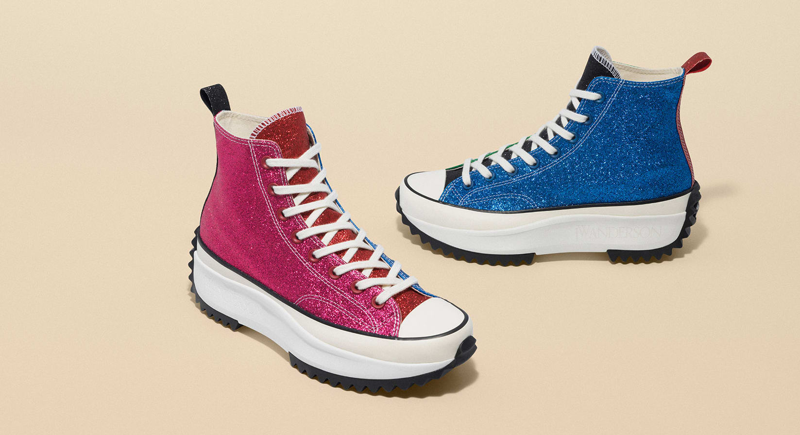 JW Anderson x Converse Run Star Hike 'Glitter' Collection 1
