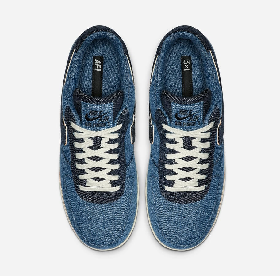 3x1 x Nike Air Force 1 Low 'Stonewash Blue' (Top)