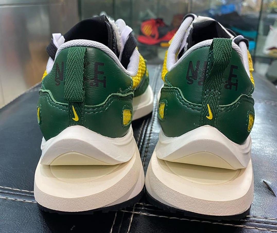 Sacai x Nike VaporWaffle Tour Yellow/Stadium Green-Sail Heel