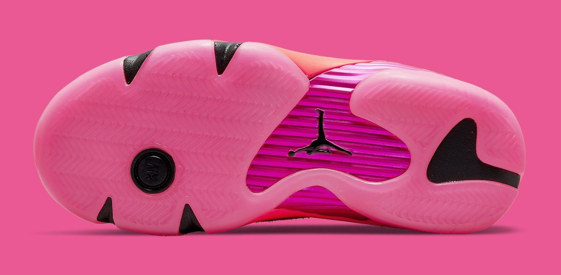 Air Jordan 14 Women's 'Shocking Pink' DH4121 600 Outsole