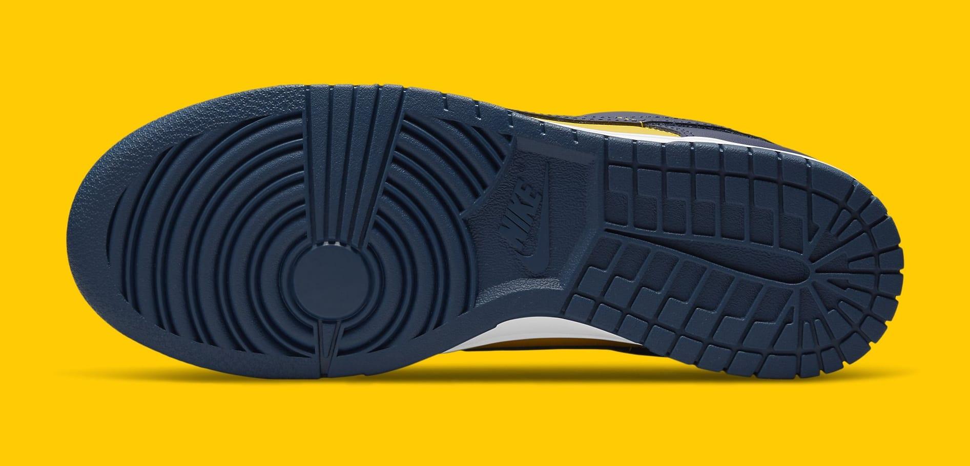 Nike Dunk Low 'Michigan' 2021 DD1391-700 Outsole