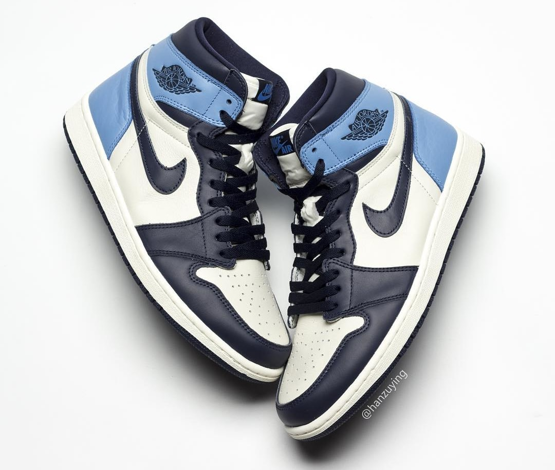 063296c3cd9188 Air Jordan 1  Sail Obsidian-University Blue  555088-140 Release Date ...