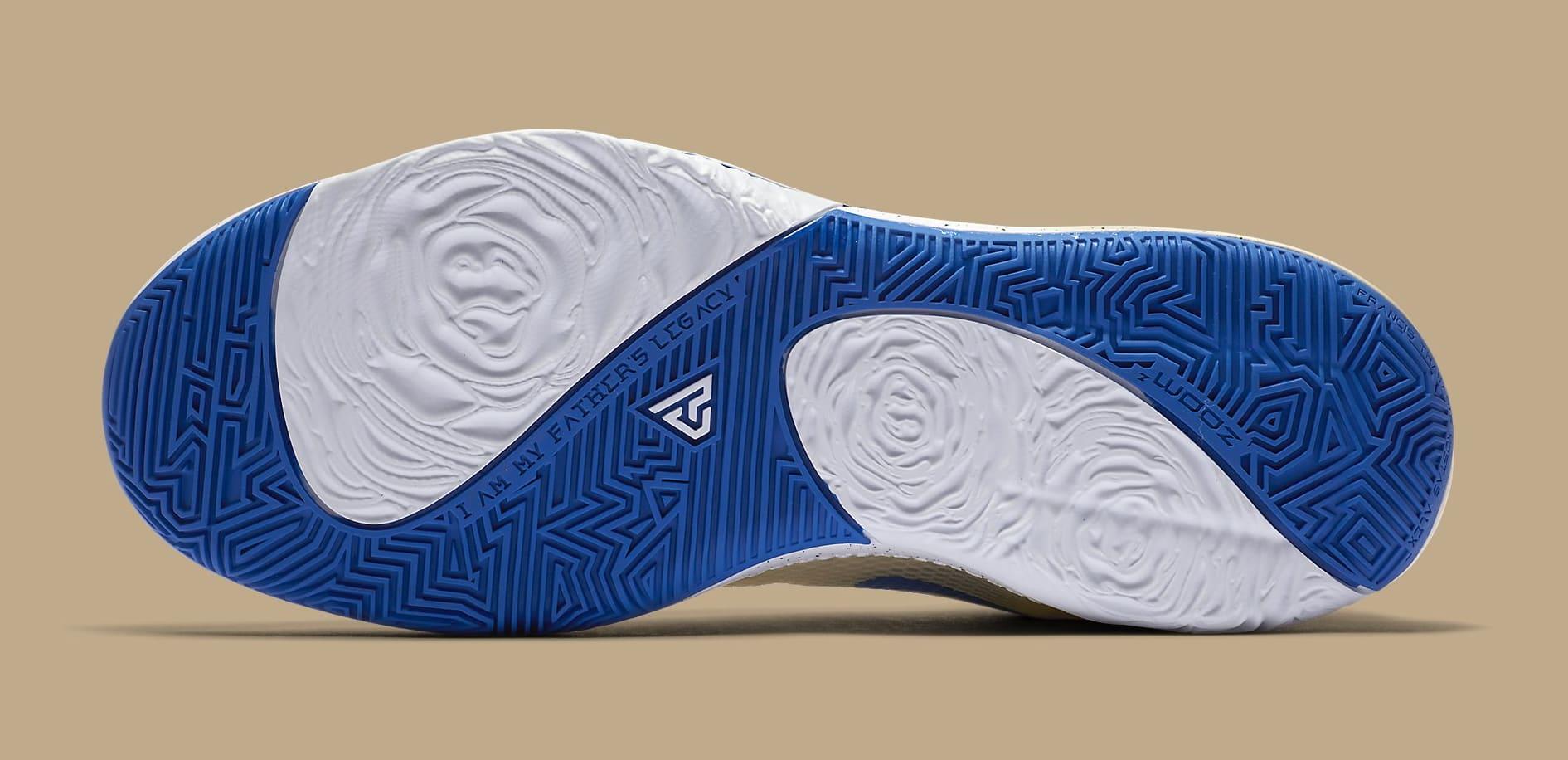 "Giannis' Nike Zoom Freak 1 Gets ""Cream City"" Colorway: Photos"