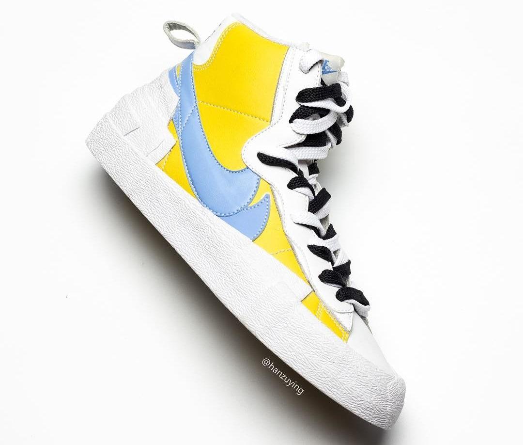 sacai x Nike Blazer High Yellow Lateral