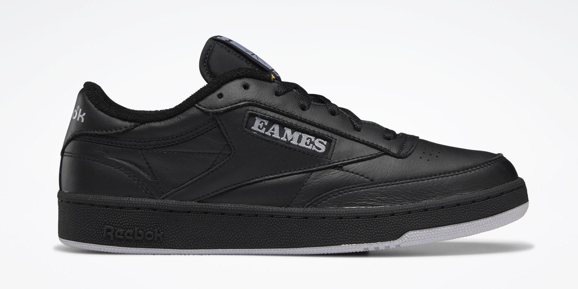 Eames x Reebok Club C Black GY1067 Lateral