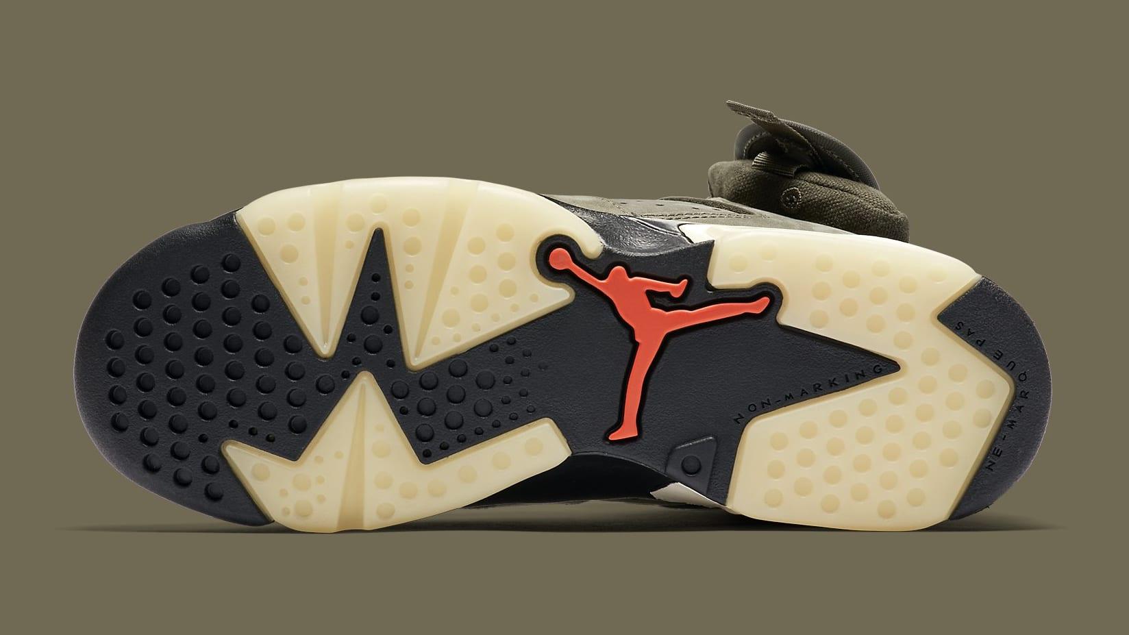 Air Jordan 6 VI Travis Scott GS Release Date CN1085-200 Sole
