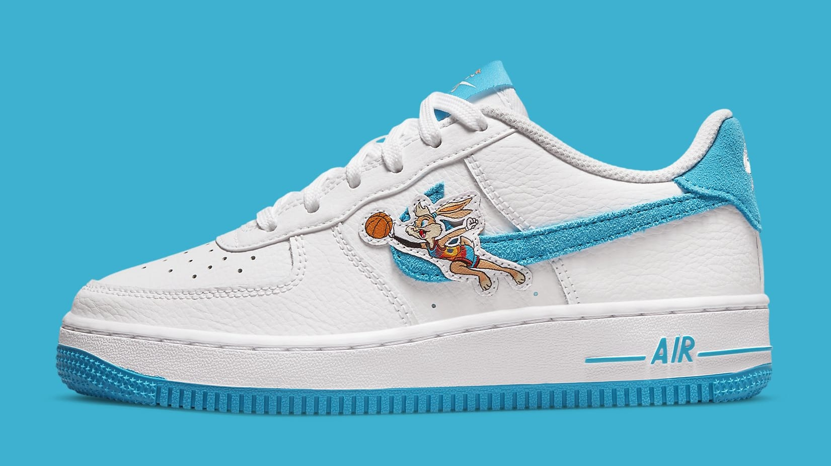 Nike Air Force 1 Low GS 'Space Jam' DM3353-100 Lateral