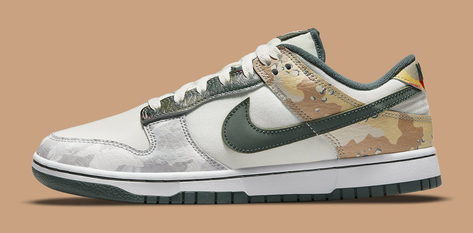 Nike Dunk Low 'Sail Multi-Camo' DH0957-100 Lateral