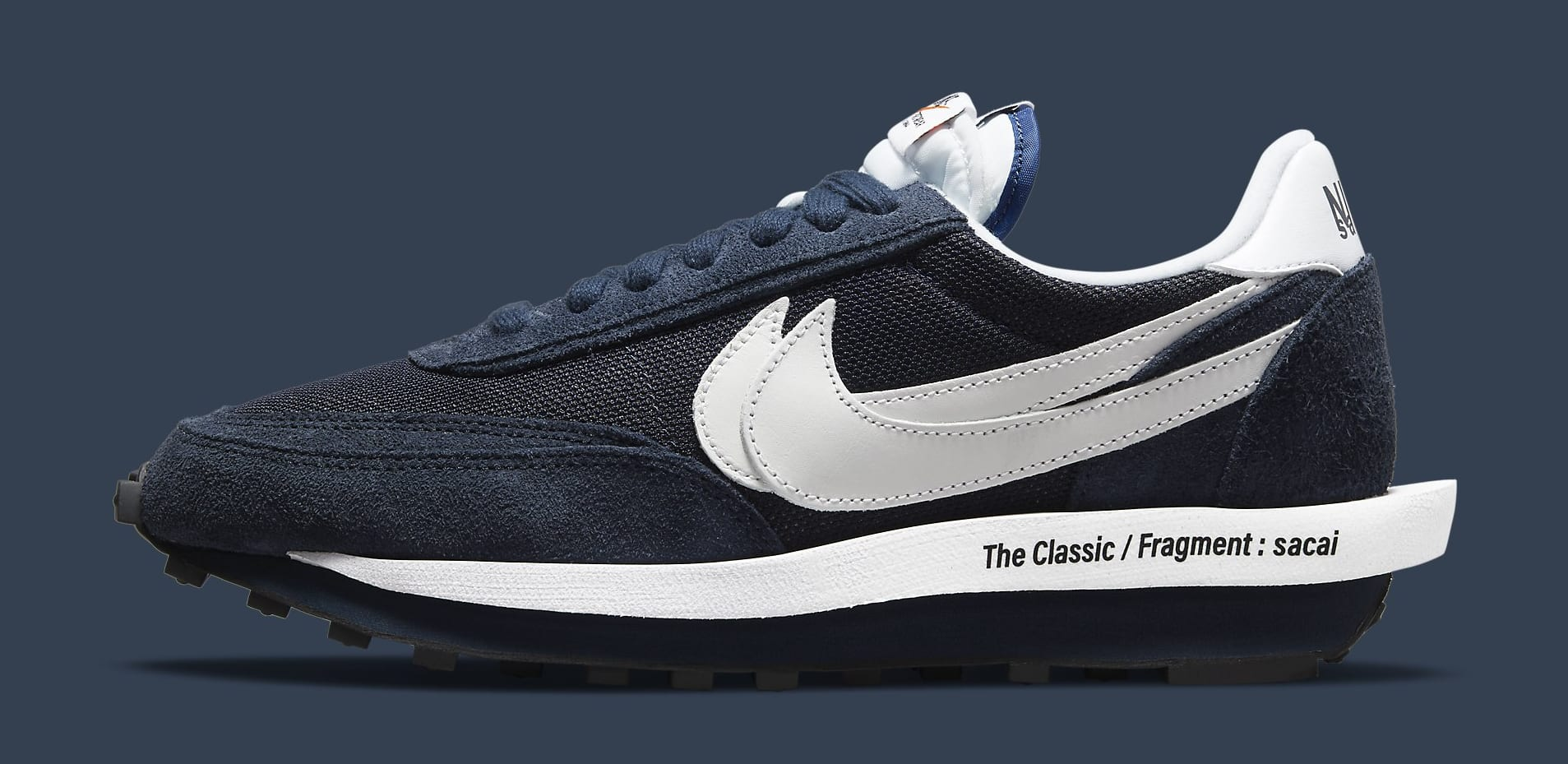 Fragment x Sacai x Nike LDWaffle 'Blackened Blue' DH2684-400 Lateral