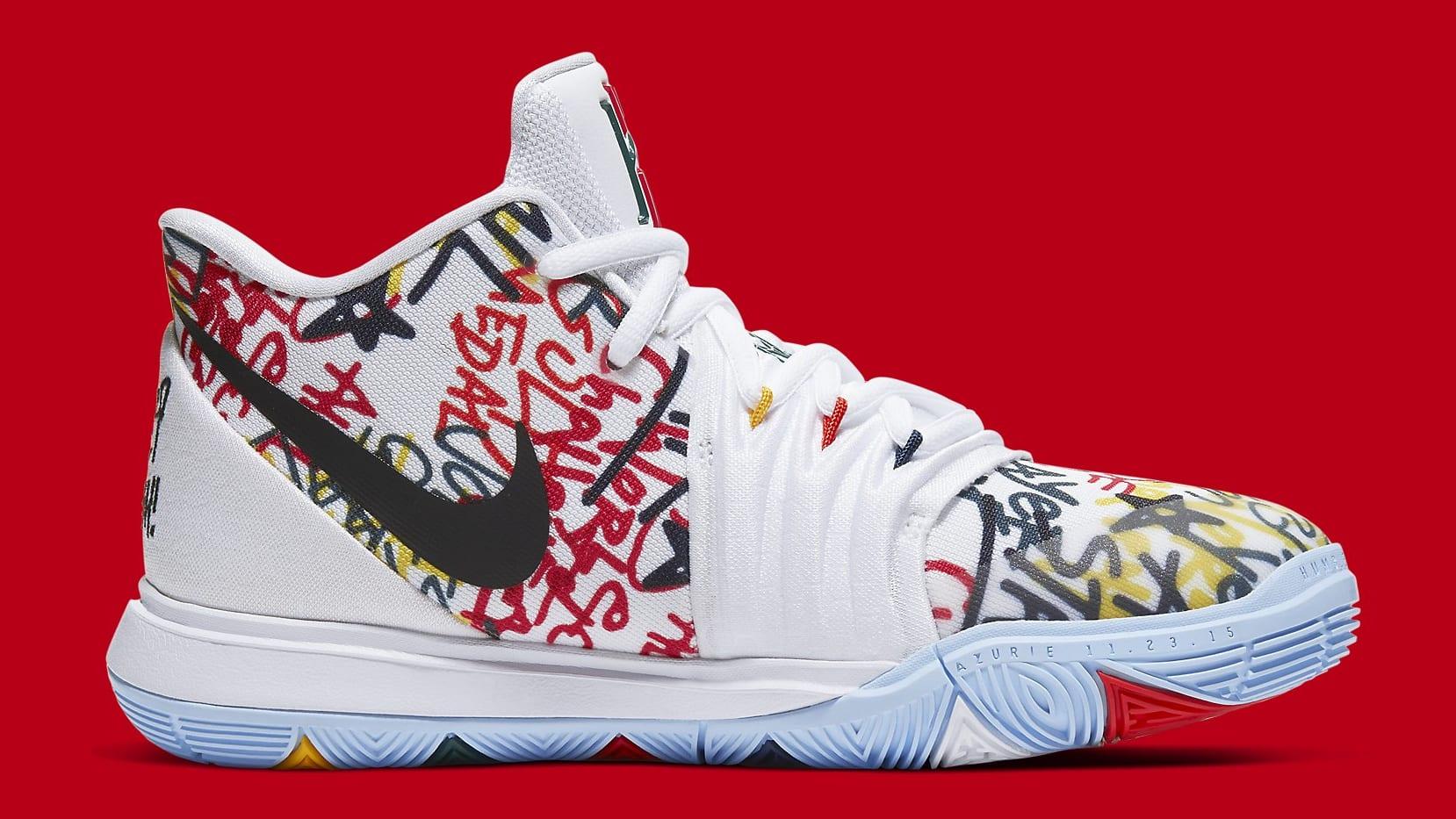 Nike Kyrie 5 Sue Bird Fresh Release Date CW4403-100 Medial