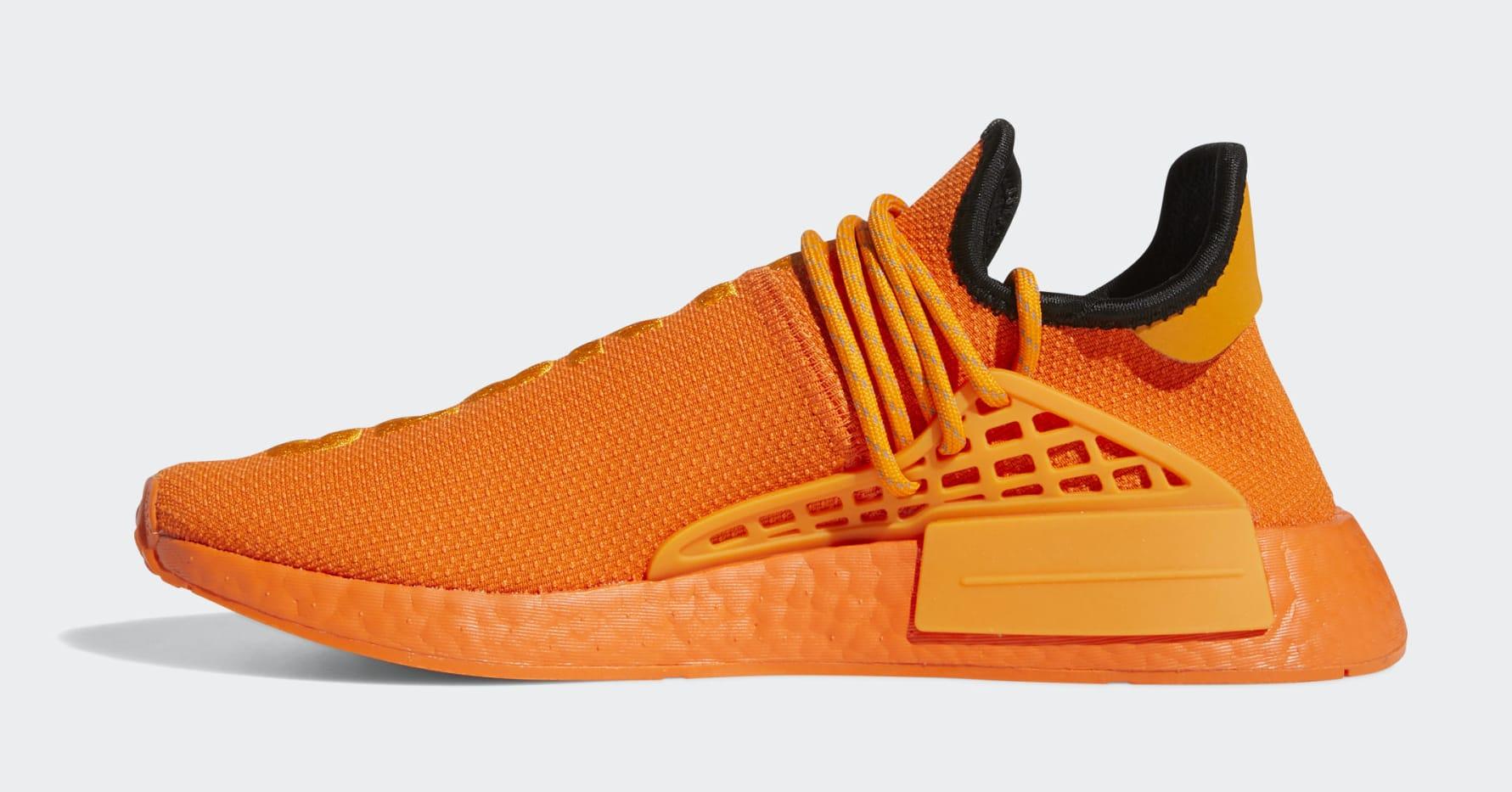 Pharrell x Adidas NMD Hu Orange GY0095 Medial