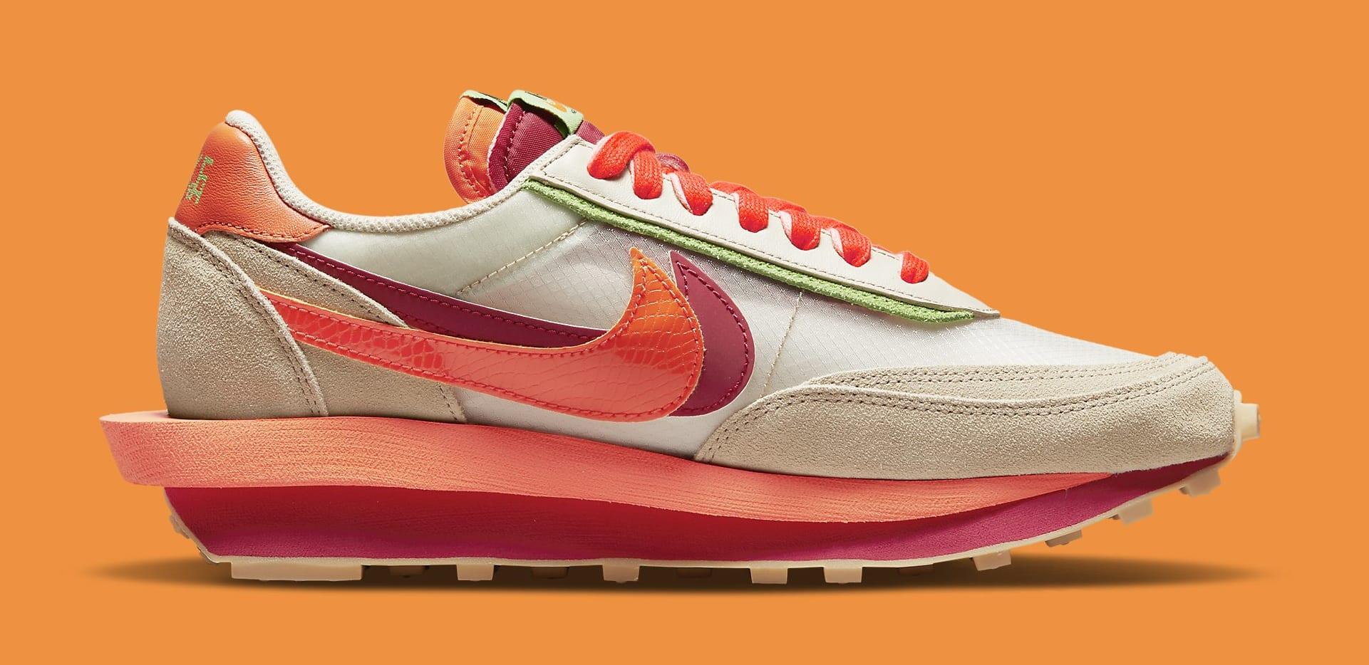 Sacai x Clot x Nike LDWaffle DH1347-100 Medial