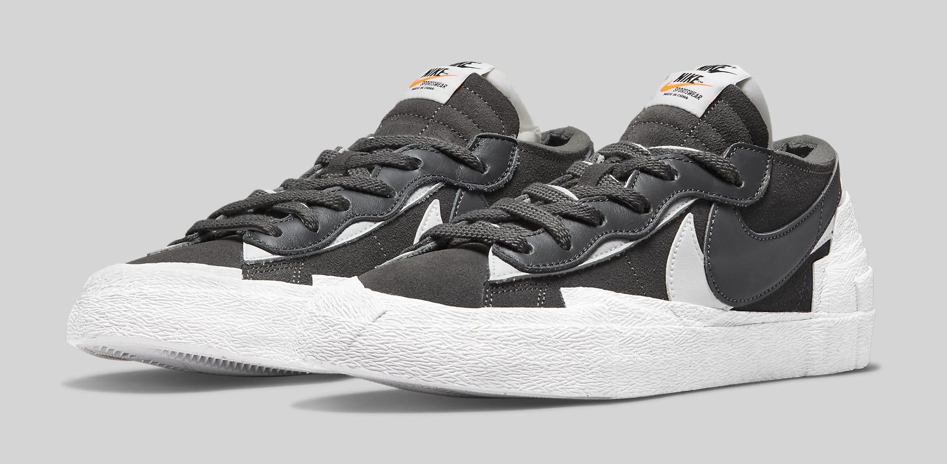 Sacai x Nike Blazer Low 'Iron Grey' DD1877-002 Pair