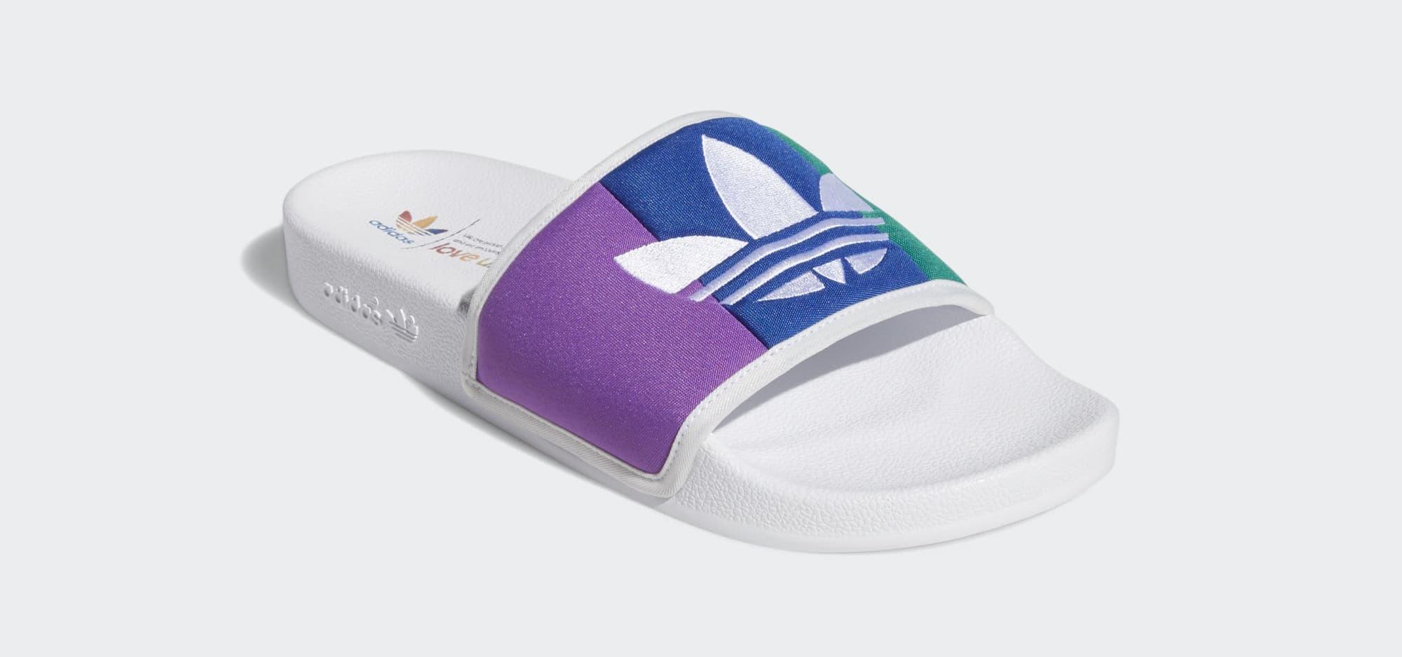 Adidas Adilette 'Pride' EF2317 (Angle)