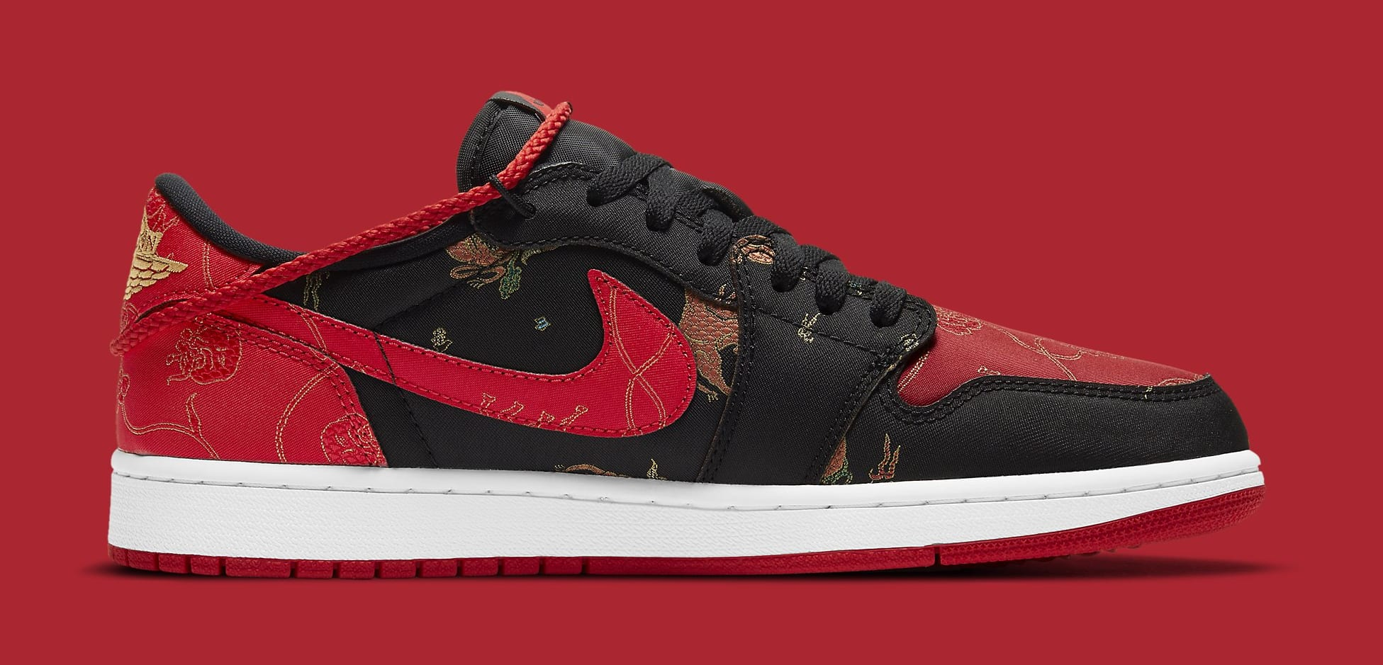 Air Jordan 1 Retro Low OG 'Chinese New Year' DD2233-001 Medial