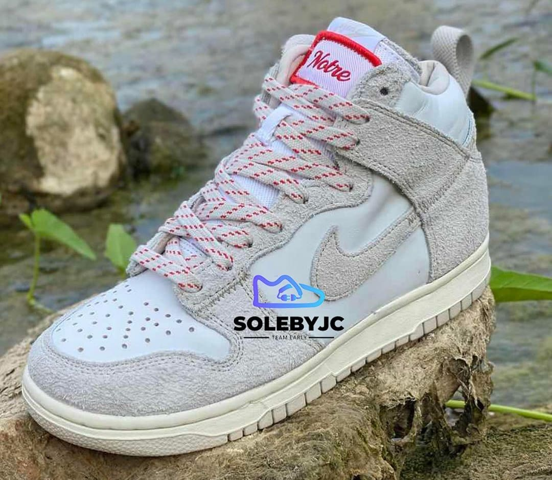 Notre x Nike Dunk High 'Light Orewood Brown/Light Orewood Brown-White' (Front)