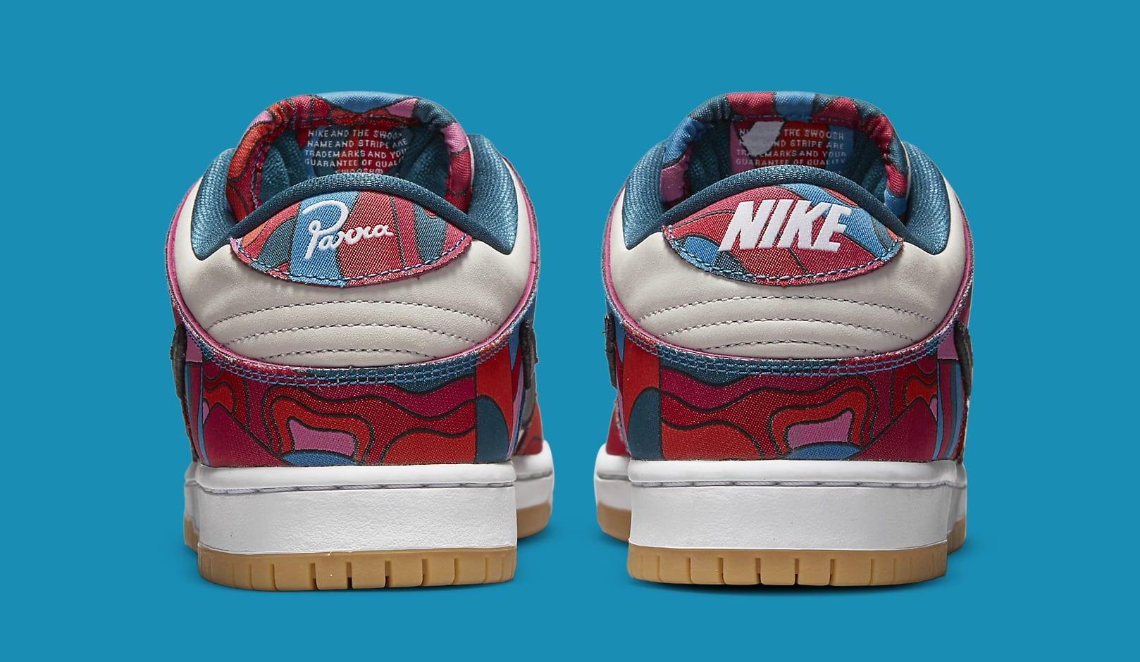 Parra x Nike SB Dunk Low DH7695-600 Heel