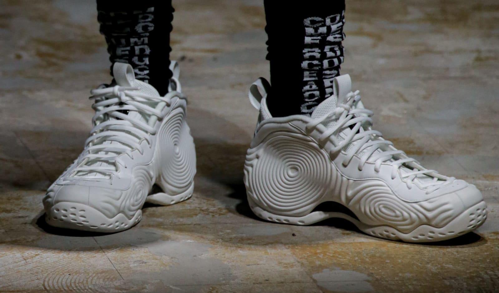 Comme des Garçons x Nike Air Foamposite One (White 3)